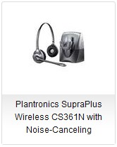 Plantronics SupraPlus Wireless CS361N with Noise-Canceling